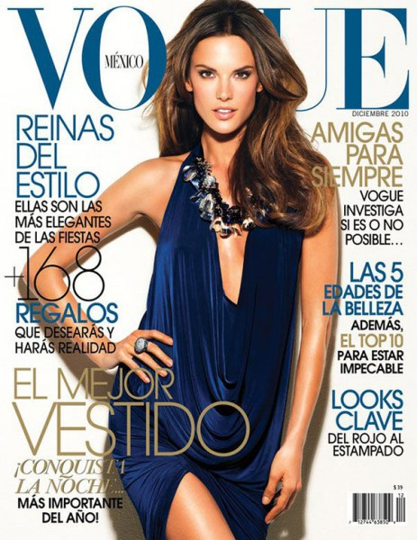 <em>Vogue Mexico</em> December 2010 Cover | Alessandra Ambrosio by Stewart Shining