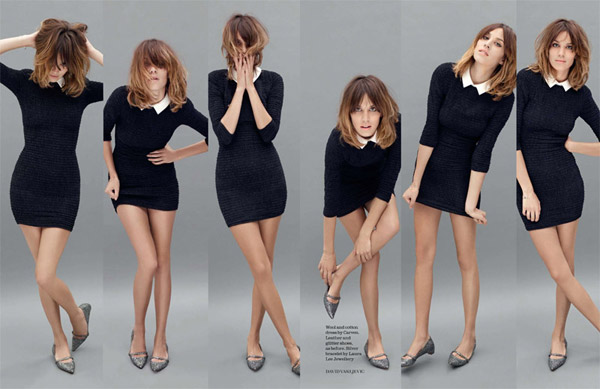 Alexa Chung by David Vasiljevic for <em>Elle UK</em> November 2010