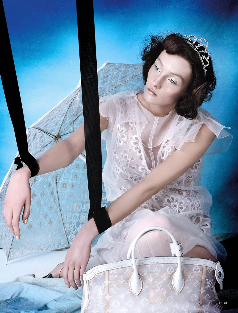 Alexa Yudina by Giovanni Squatriti in Louis Vuitton for Elle Dubai April 2012