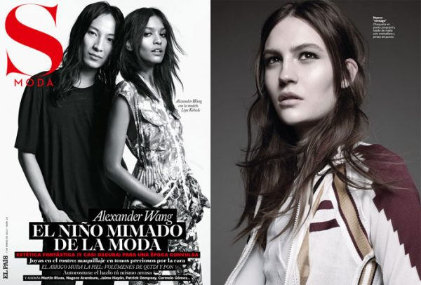 Alexander Wang & Liya Kebede Cover <em>S Moda</em> January 2012
