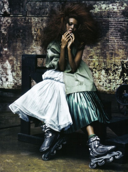 Elle Italia January 2010 | Liya Kebede by Alexei Hay