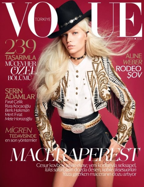 Aline Weber Covers Vogue Turkey May 2012 in Balmain