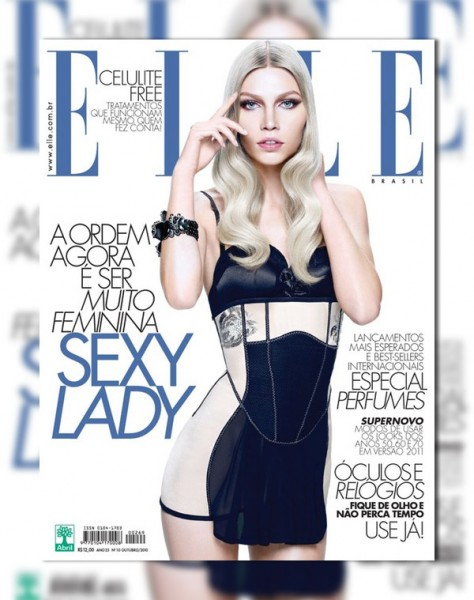 <em>Elle Brazil</em> October 2010 Cover | Aline Weber by Gui Paganini