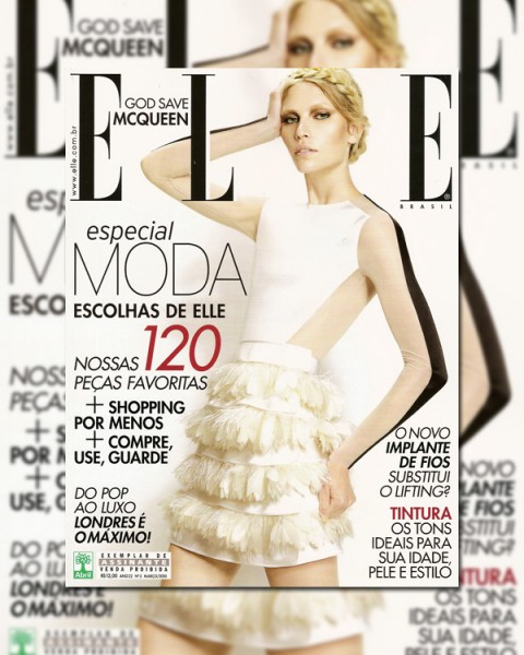 <em>Elle Brazil</em> March 2010 Cover | Aline Weber by Fabio Bartelt
