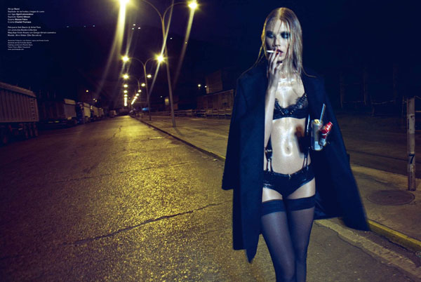 Because the Night | Aline Weber by Txema Yeste for V Spain