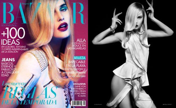 Alla Kostromicheva by JM Ferrater for Harper's Bazaar Mexico April 2012