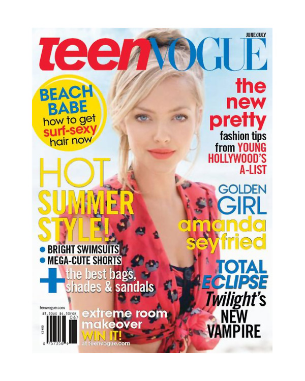 Teen Vogue June/July 2010 Cover | Amanda Seyfried by Patrick Demarchelier