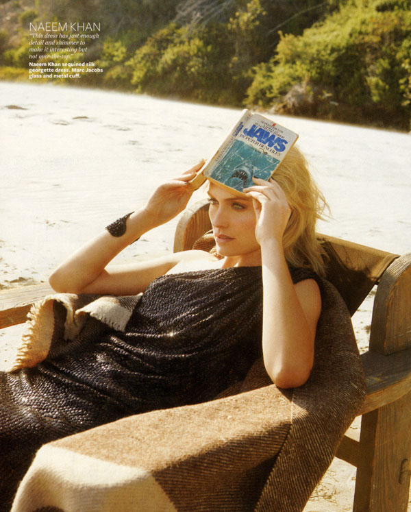 InStyle October | Amber Valletta by Jenny Gage & Tom Betterton