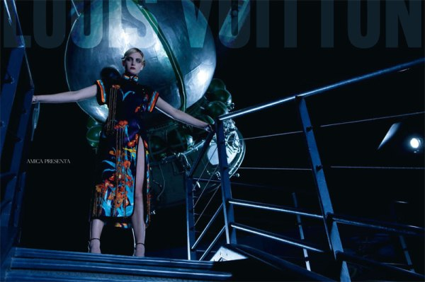 Suzie Bird & Ophelie Rupp in Louis Vuitton for <em>Amica</em> March 2011 by Christopher Morris