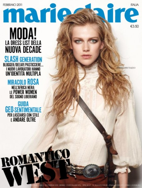 Marie Claire Italia February 2011 Cover | Anabel van Toledo by Thierry Le Gouès
