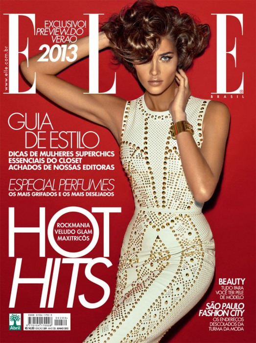 Ana Beatriz Barros is Elegant in Versace for Elle Brazil's June Cover