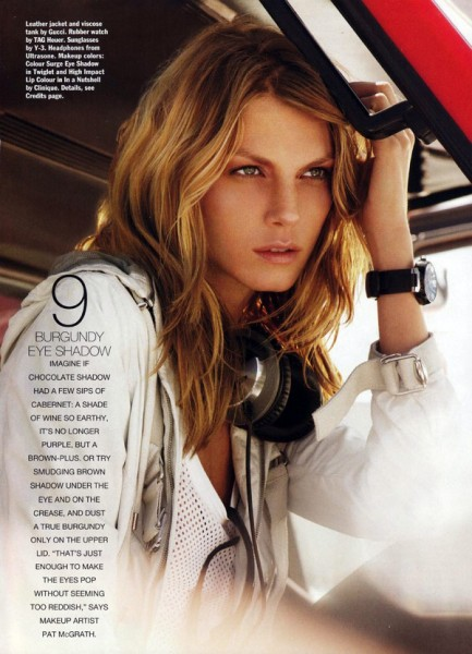 Allure November 2009 | Angela Lindvall by Regan Cameron