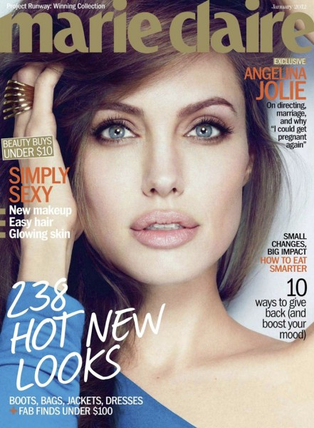 Angelina Jolie by Alexei Hay for Marie Claire US January 2012 (Cover)