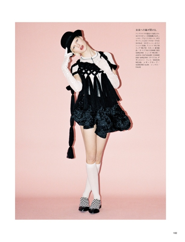 Hannah Holman by Angelo Pennetta for Vogue Nippon May 2010 | The New Look