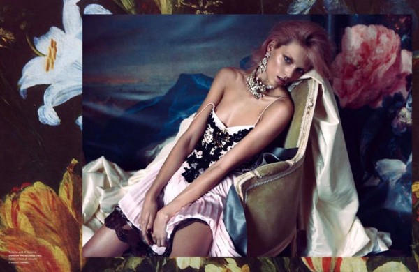 Anja Rubik Seduces in Camilla Akrans' Numéro Shoot