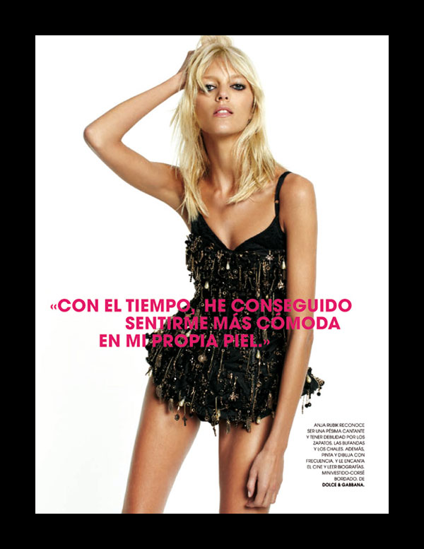 Anja Rubik by David Roemer for Marie Claire Spain December 2010