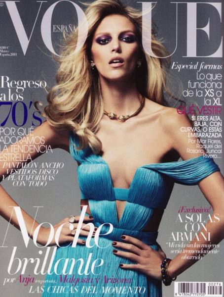 <em>Vogue Spain</em> March 2011 Cover | Anja Rubik by Alexi Lubomirski