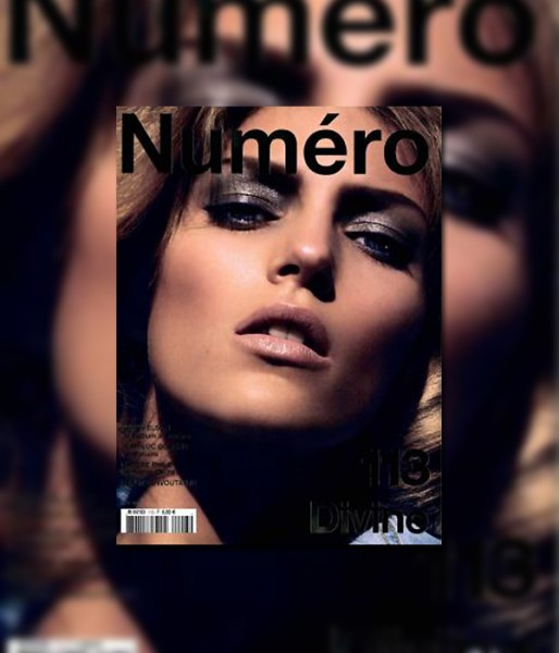 <em>Numéro</em> #113 May 2010 Cover | Anja Rubik by Camilla Akrans
