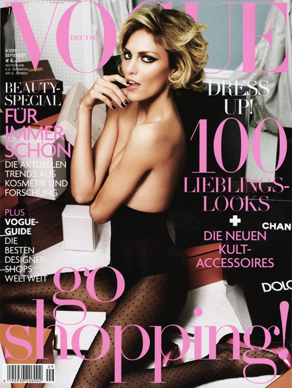 Vogue Germany September 2009 - Anja Rubik by Alexi Lubomirski