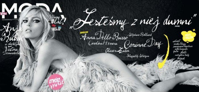 Viva! Moda Winter 2010 Cover | Anja Rubik by Victor Demarchelier