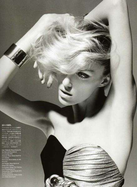 Anja Rubik is 'High Maintence' for Vogue Nippon September
