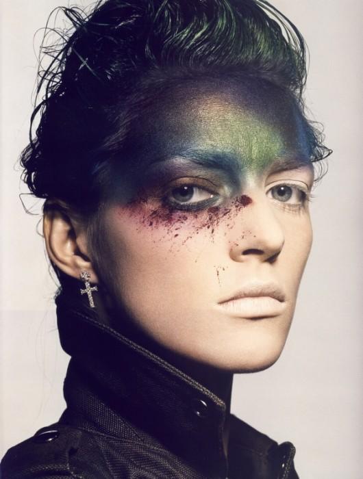 Vogue Paris November 2009 | Anja Rubik by Tyen