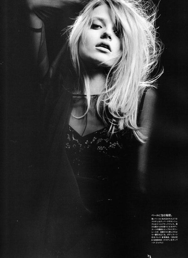Anna Jagodzinska by Hedi Slimane in Soft Machine | Vogue Nippon August 2010