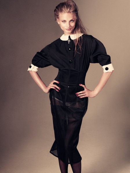 Anna Selezneva by Andreas Sjodin for <em>Vogue Japan</em> January 2012