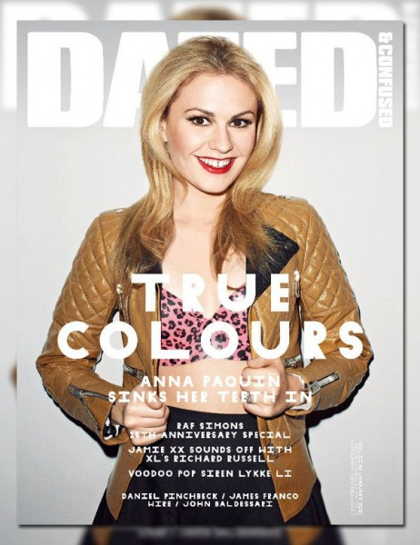 <em>Dazed &#038; Confused</em> January 2011 Cover | Anna Paquin by Terry Richardson
