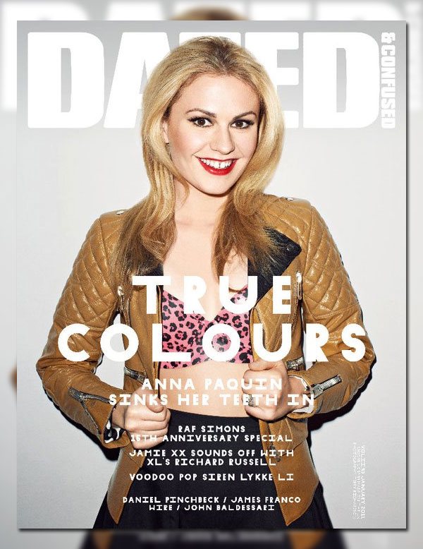 Dazed & Confused January 2011 Cover | Anna Paquin by Terry Richardson