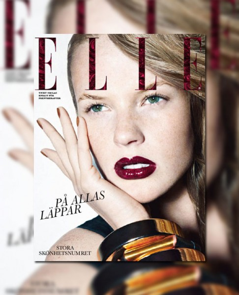 <em>Elle Sweden</em> November 2010 Cover | Anne Vyalitsyna by John Scarisbrick