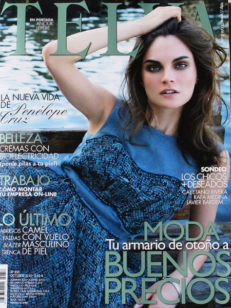 <em>Telva</em> October 2010 Cover | Anouck Lepere by Ruben Vega