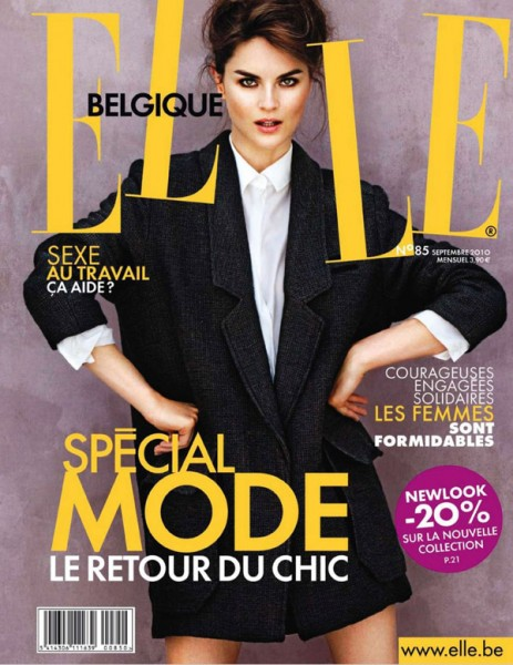 <em>Elle Belgium</em> September 2010 Cover | Anouck Lepere by Pablo Delfos