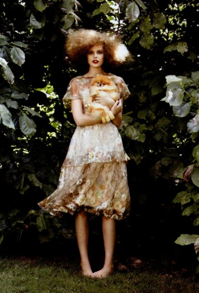 Frida Gustavsson by Patrick Demarchelier in Anything Goes | Vogue US November 2010