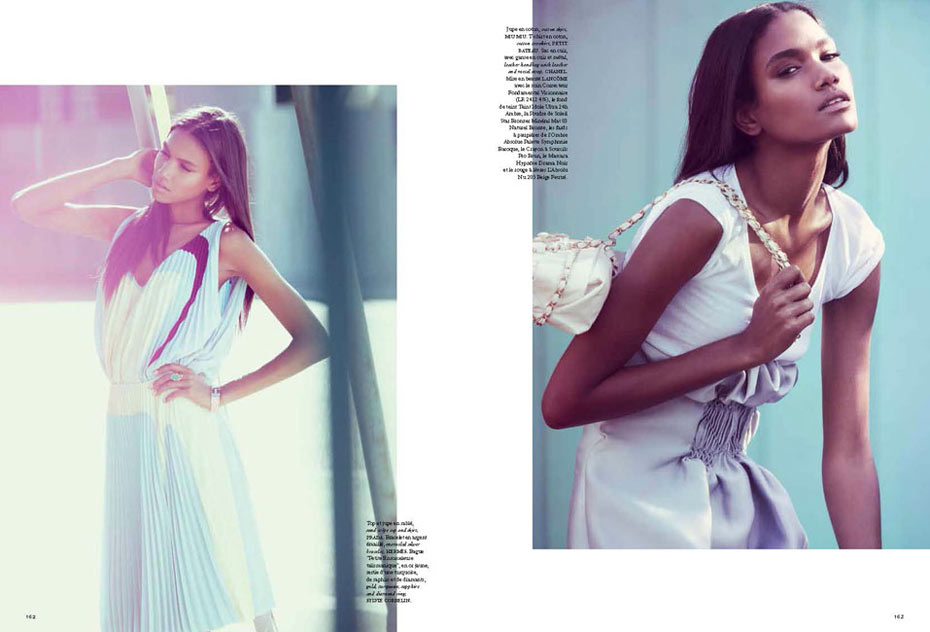 Arlenis Sosa by Dean Isidro for Air France Madame April/May 2012
