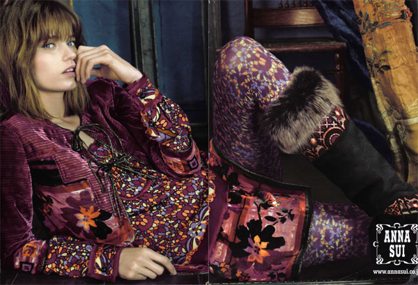 Abbey Lee Kershaw for Anna Sui Fall 2010 Campaign | Preview