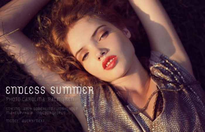 New Face Avery Soaks up the Sun in Images by Carolina Palmgren