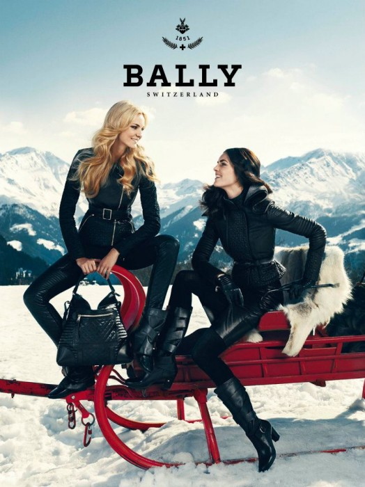 Caroline Trentini & Hilary Rhoda Head to the Alps for Bally's Fall 2012 Campaign by Norman Jean Roy