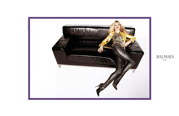 Balmain Fall 2010 Campaign Preview   Kate Moss by Inez & Vinoodh