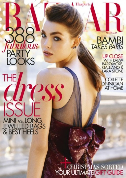 Harper's Bazaar Australia December 2010 Cover   Bambi Northwood-Blyth by Victor Demarchelier