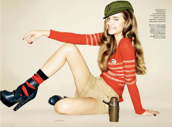 Barbara Palvin by Matt Irwin for Vogue Russia July 2010