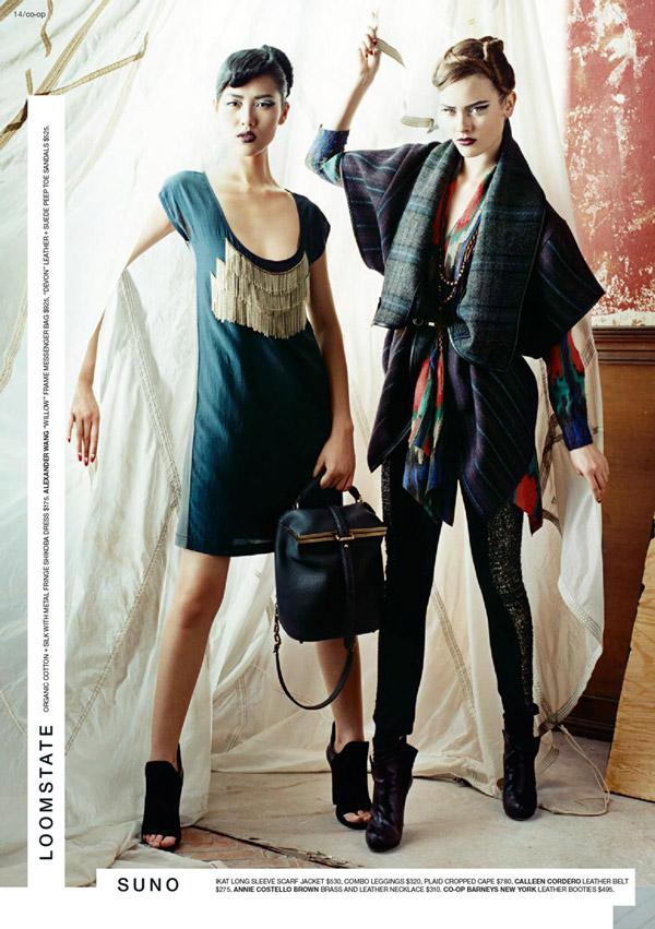 Monika Jagaciak & Liu Wen for Barneys CO-OP Mailer | Fall 2010-All Sorts of Boys + Girls