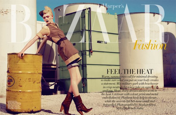 Clara B by Stefan Khoo for Harper's Bazaar Singapore June 2010