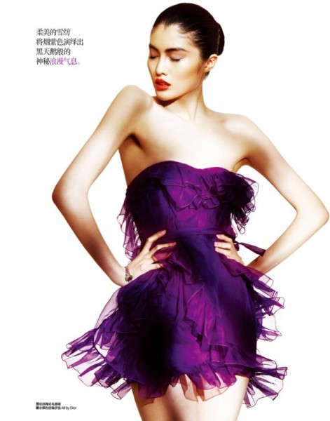 Zhou Danni & He Sui by Trunk for <em>Harper's Bazaar China</em> March 2011