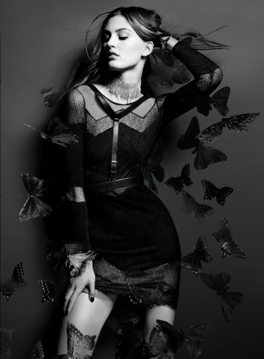 Ali Stephens is Sensual in Lace for BCBG Magazine Fall 2012 by Alisha Goldstein