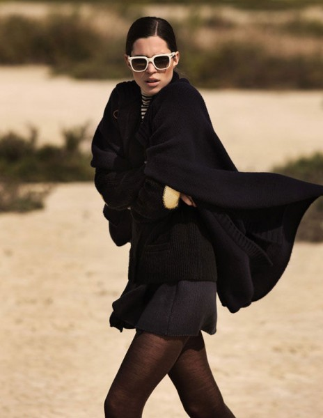 Jovita Miseviciute by Zoltan Tombor in Il Mare d'Inverno | <em>Grazia</em> November 2010