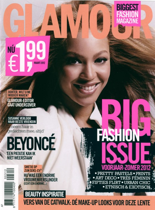 Glamour Netherlands March 2012 Cover | Beyonce by Man Sumarni