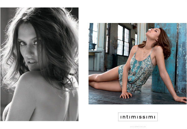 Bianca Balti for Intimissimi's Fall 2010 Campaign