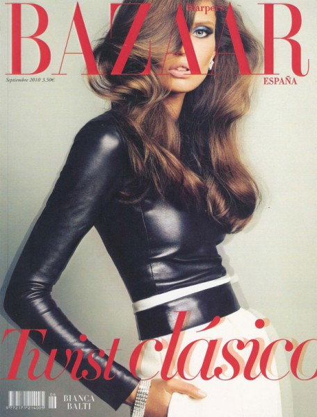 <em>Harper's Bazaar Spain</em> September 2010 Cover | Bianca Balti by Txema Yeste