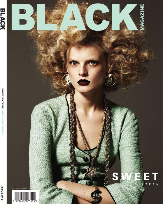 Hanne Gaby Odiele, Andrej Pejic, Valerija Kelava & Milou van Groesen Cover Black #16